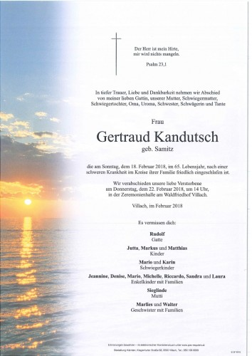 Gertraud Kandutsch geb. Samitz
