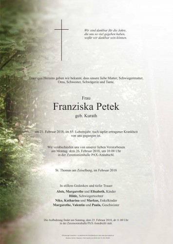 Franziska Petek