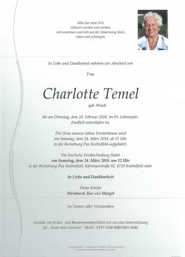 Charlotte Temel geb. Posch