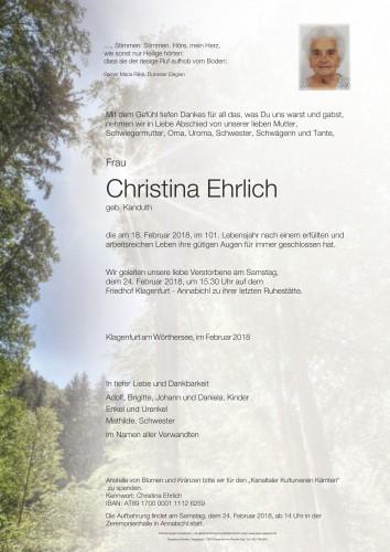 Christina Ehrlich