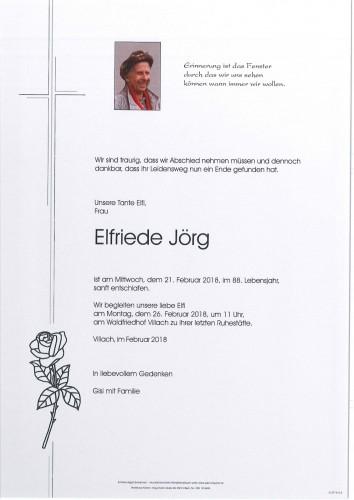 Elfriede Jörg