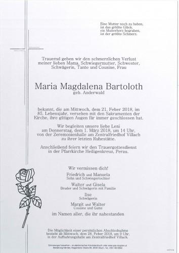 Maria Magdalena Bartoloth