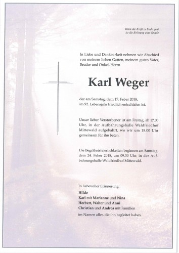 Karl Weger