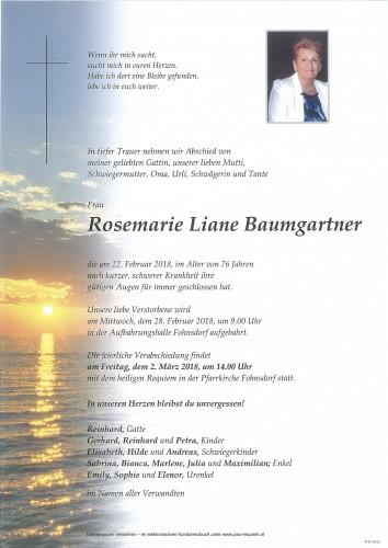 Rosemarie Liane Baumgartner