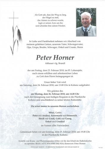 Peter Horner, vlg. Brandl