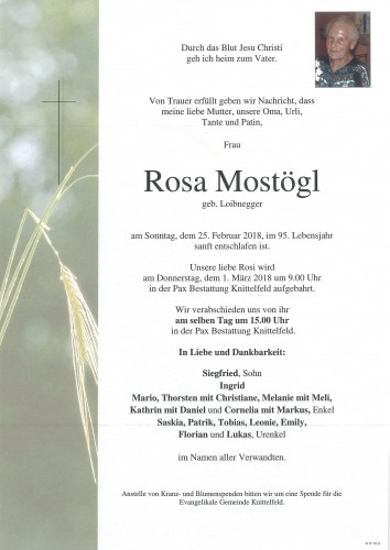 Rosa Mostögl