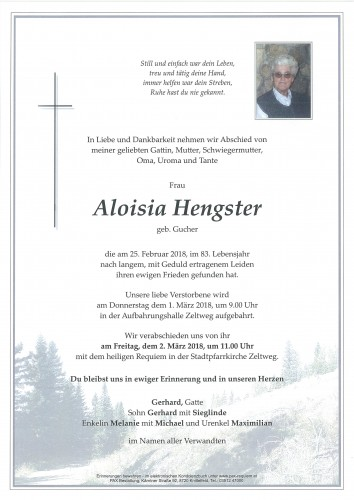 Aloisia Hengster