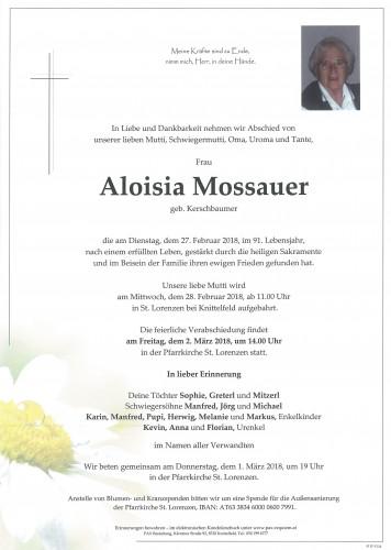 Aloisia Mossauer geb. Kerschbaumer