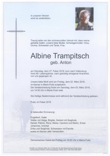 Albine Trampitsch  geb. Anton