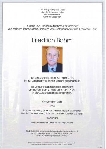Friedrich Böhm