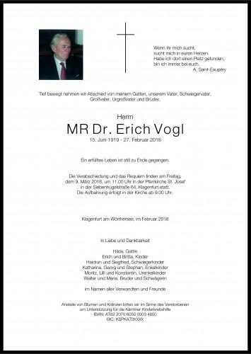 MR Dr. Erich Vogl