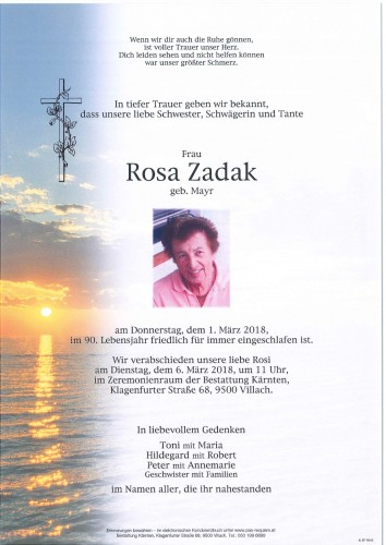 Rosa Zadak