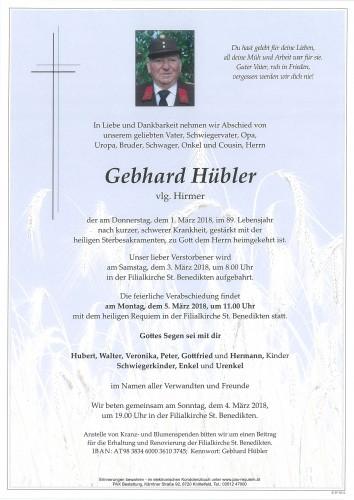 Gebhard Hübler