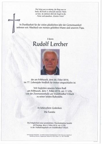 Rudolf Lercher