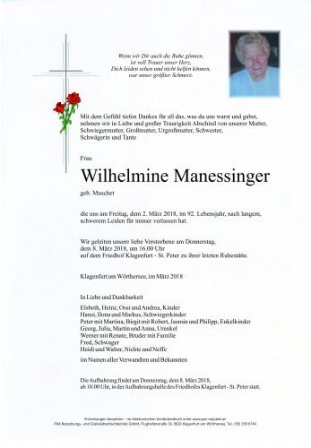 Wilhelmine Manessinger