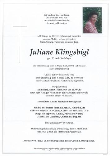 Juliane Klingsbigl