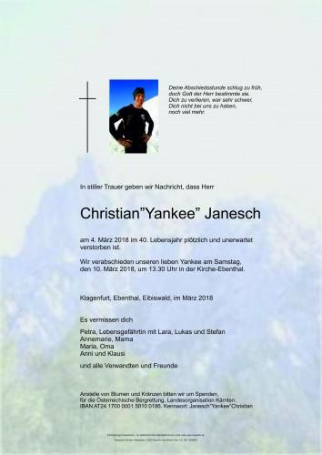 """Christian """"Yankee"""" Janesch"""