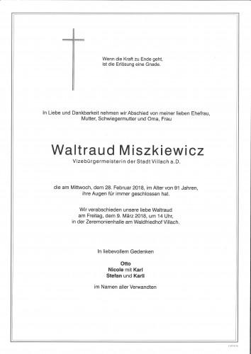 Waltraud Miszkiewicz, geb. Brantner