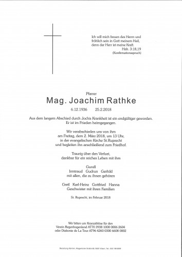 Mag. Joachim Rathke