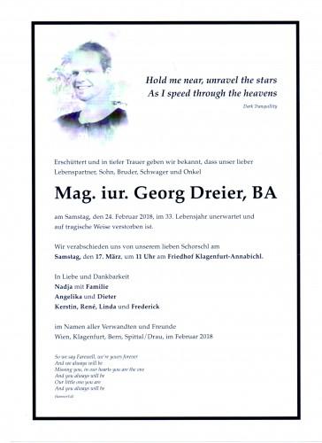 Mag. jur.Georg Dreier, BA