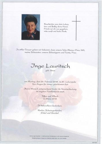 Inge Lauritsch geb. Uran