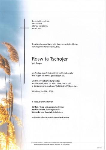 Roswita Tschojer geb. Burger