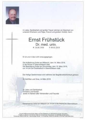Dr. med. univ. Ernst Frühstück