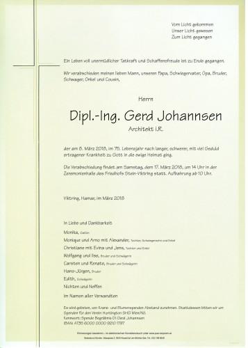 Dipl.-Ing. Gerd Johannsen