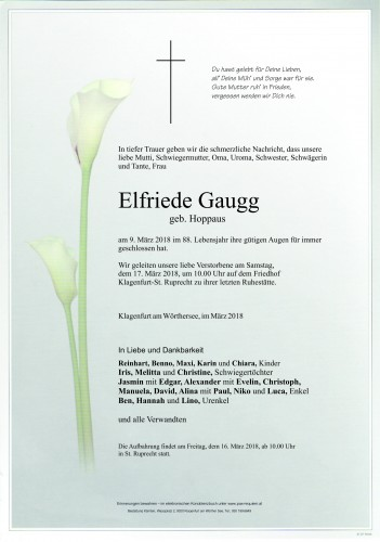 Elfriede Gaugg