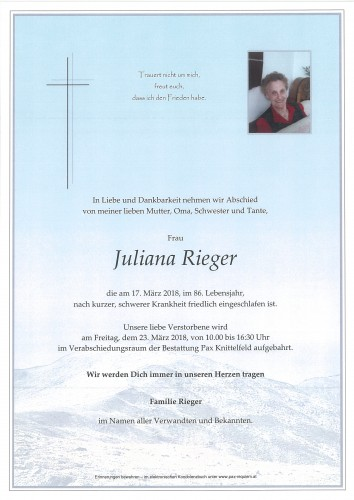 Juliana Rieger