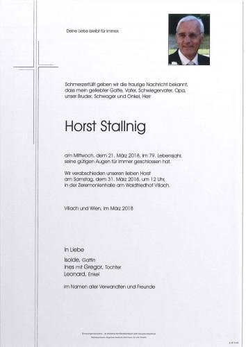 Horst Stallnig