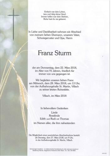 Franz Sturm