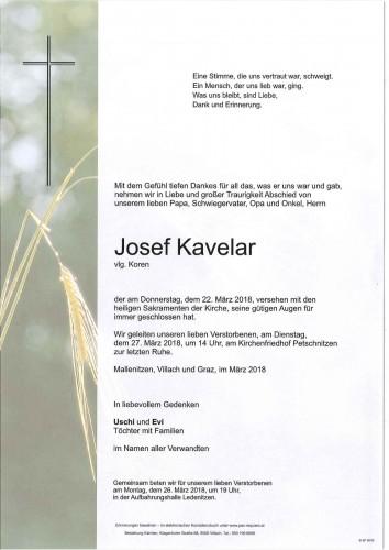 Josef Kavelar