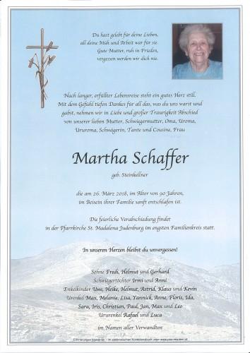 Martha Schaffer