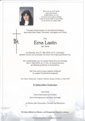 Erna Lastin, geb. Reicht