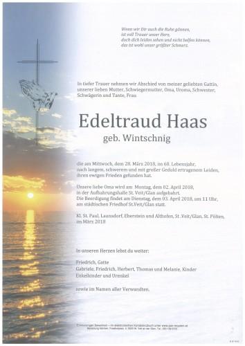 Edeltraud Haas  geb. Wintschnig