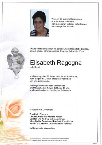 Elisabeth Ragogna geb. Bornik