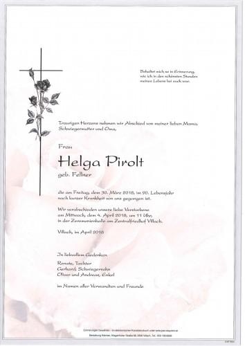 Helga Pirolt geb. Fellner