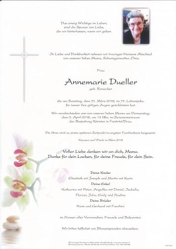 Annemarie Dueller, geb. Ronacher