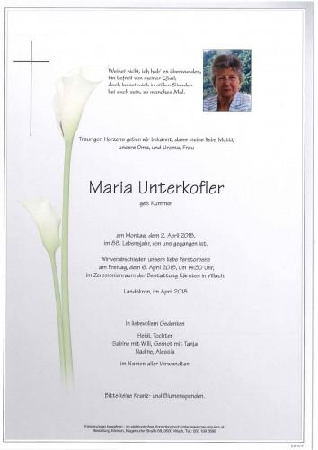 Maria Unterkofler geb. Kummer
