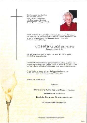 Josefa Gugl, geb. Pließnig