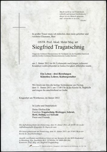 TRAGATSCHNIG Siegfried