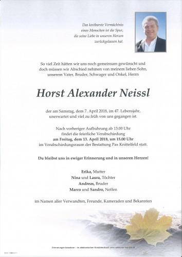 Horst Alexander Neissl