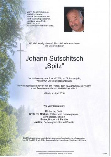 """Johann Sutschitsch """"Spitz"""""""