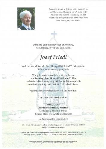 Josef Friedl