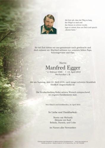 Manfred Egger