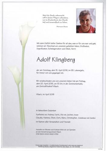 Adolf Klingberg