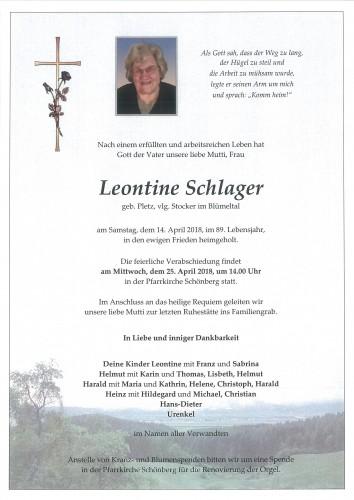 Leontine Schlager