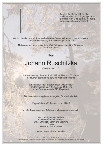 Johann Ruschitzka