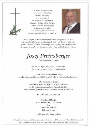 Josef Preinsberger